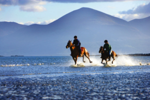 Beach horse riding Ireland